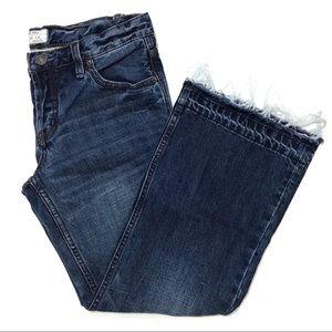 Free People Wide Leg Cropped Jeans Size 26
